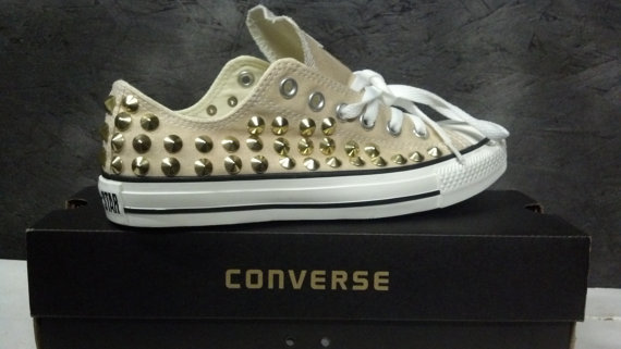Custom Studded Converse Shoes FULLY STUDDED SHOES by CustomStudded