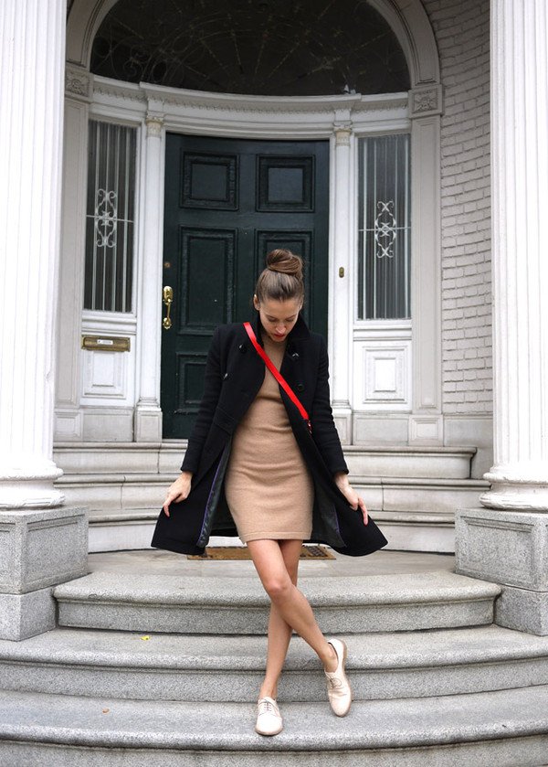 my fair vanity coat sweater dress bag