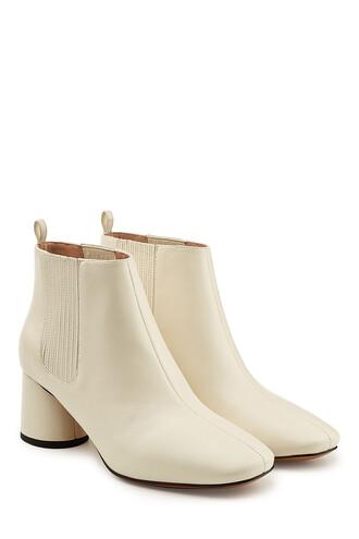 leather ankle boots boots ankle boots leather white shoes