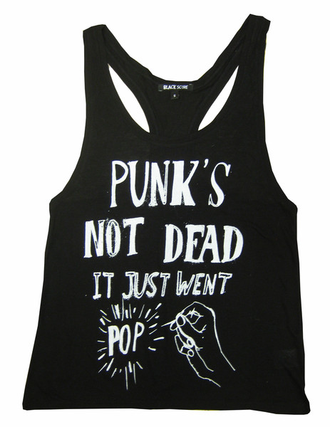 Punk's Not Dead: Pop Racor Vest – Black Score