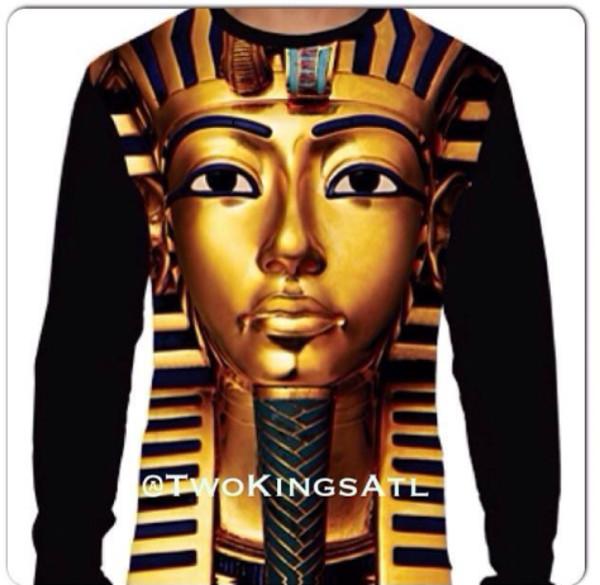 sweater king tut gold long sleeves shirt