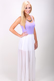 Chiffon Maxi Skirt - Haute Miss