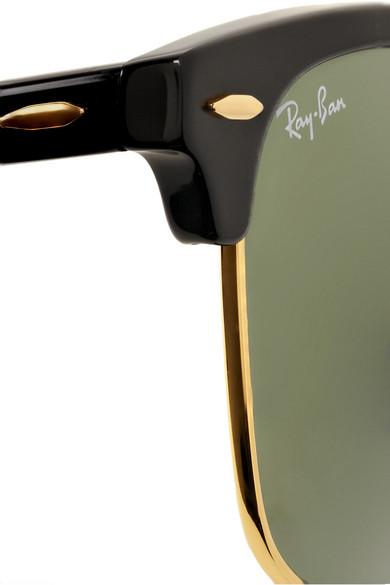 Ray-Ban|Clubmaster acetate sunglasses|NET-A-PORTER.COM