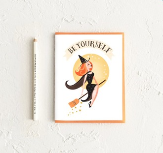 home accessory card halloween halloween decor witch cute gift ideas quote on it