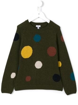 sweater girl toddler green