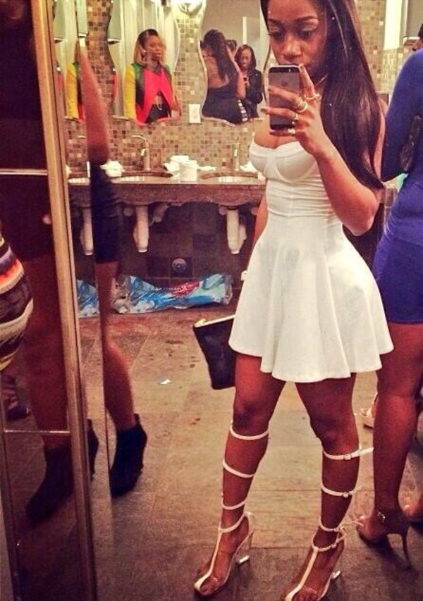 shoes white heels dress