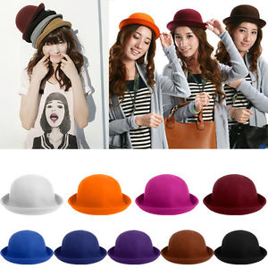 Classic Style Vintage Lady Vogue Women Wool Cute Trendy Bowler Derby Hat   eBay