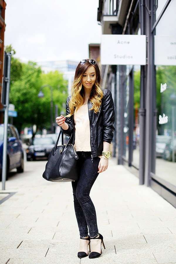 flirting with fashion jacket jeans shoes bag sunglasses sweater