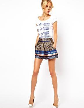 ASOS | ASOS Silky Shorts in Floral Print at ASOS