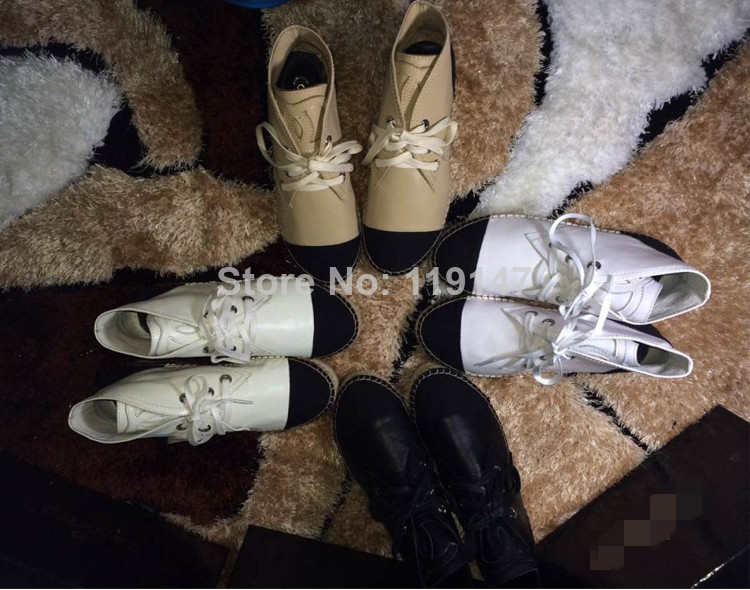 2014 Summer Brand Designer Canvas Genuine Leather Espadrilles CC Creepers flats Sneakers Italian Embroidered Shoes for women-in Flats from Shoes on Aliexpress.com