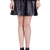 ROMWE | Riveted Pleated Faux Leather Black Skirt, The Latest Street Fashion