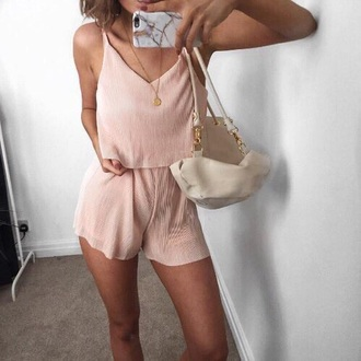 romper baby pink summer pink romper pink short sleeved shorts pink top