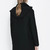 Black Long Sleeve Oblique Zipper Trench Coat - Sheinside.com