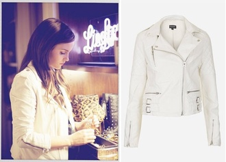 jacket movie leather white leather jacket cute fall outfits fashion style