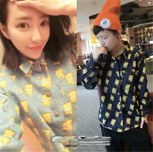 Casual Denim BIGBANG GD G Dragon Simpson Cartoon Printed Long T Shirt Lovers   eBay