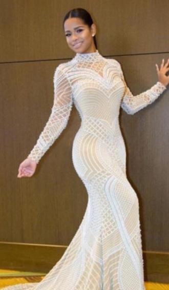 dress white lace dress
