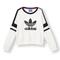 Adidas originals 2014 q3 women logo crew sweater shirt m69757 white black