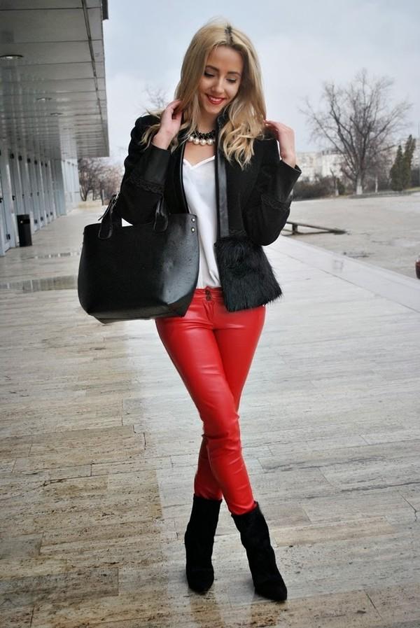 let's talk about fashion ! coat pants blouse bag shoes