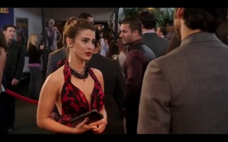 dress adrianna tate-dunken 90210 fashion red black beverly hills beverly hills 90210 new generation chest navid 90210 adrianna black dress red carpet