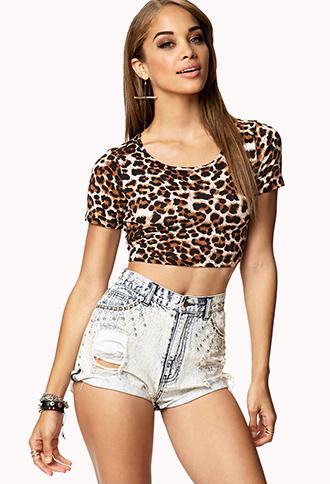 Leopard Print Crop Top | FOREVER 21 - 2000074573