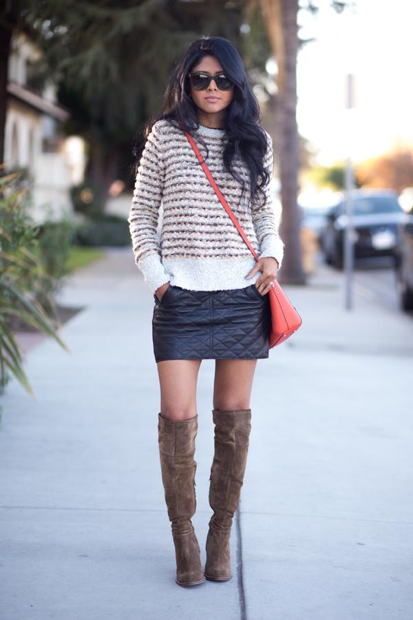 walk in wonderland t-shirt skirt bag shoes jewels sunglasses sweater