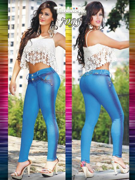 Brightly Colored Tabbachi Jeans 7093 | Yallure