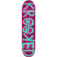 Krooked Checked Out Neon Pink Skateboard Deck - 8.06