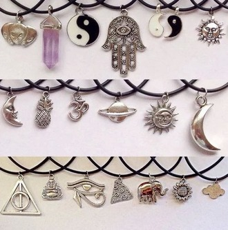 jewels collier moon necklace sun necklace necklace moon and sun jewelry grunge grunge jewelry