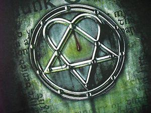 Men's Heartagram Logo Him Band T Shirt Ville Valo Black Concert Tour Rock M L | eBay
