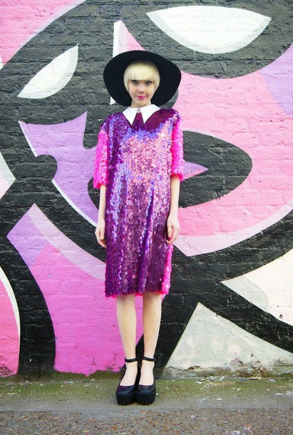 stella's wardrobe blogger collared dress purple