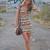 Bershka Ethnic Print Dress Aztec Orange Coral s M L | eBay