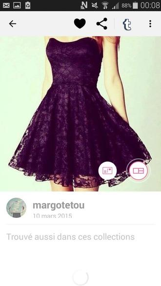 dress robe noire bustier dress dentelle