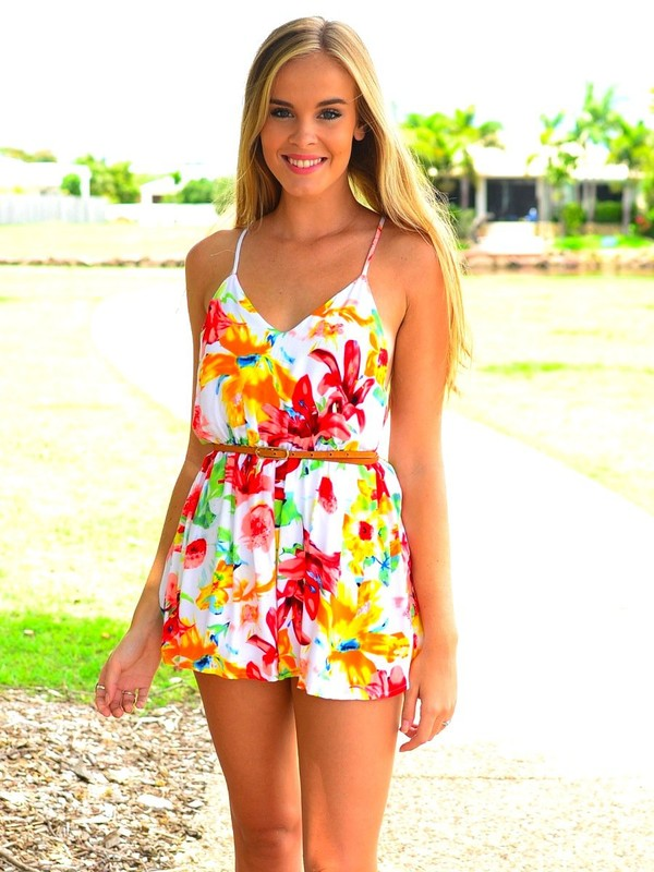 dress romper floral summer outfits
