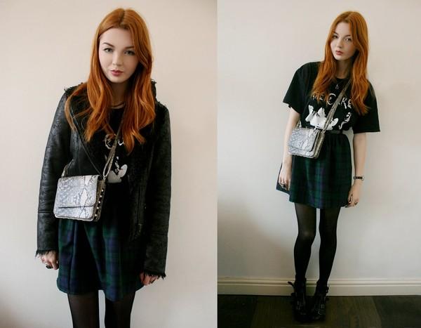 hannah louise fashion skirt jacket bag shoes