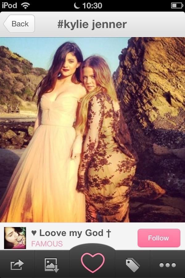 dress champagne dress prom dress kylie jenner maxi dress