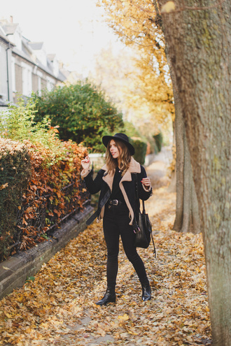 wish wish wish blogger coat hat sweater jeans shoes bag