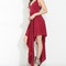 Red flowing irregular maxi dress on storenvy