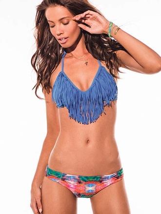 L*Space Periwinkle Audrey Fringe Carnivale Monique - Elite Swimwear