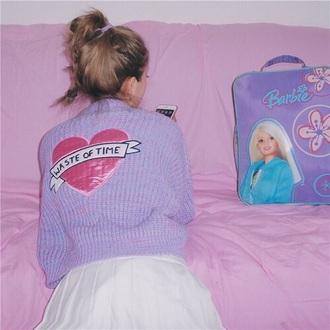 sweater pink sweatshirt love purple stars cute kawaii please help me find it