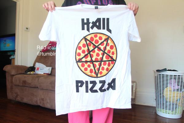 shirt pizza hail pizza pizza shirt food shirt food tee white shirt bag
