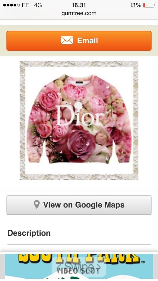 sweater pink jumper dior