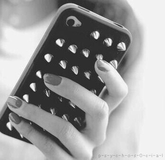 phone cover iphone iphone cover black iphone case studs studded style black cover studded iphone cover