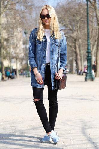 cheyenne meets chanel jacket jeans shirt shoes bag belt jewels