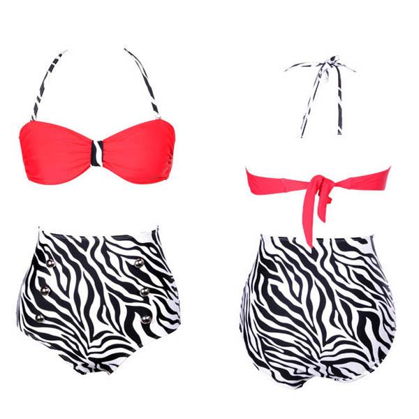 50s Retro Pinup Rockabilly Vintage High Waist Bikini Swimwear Swimsuits s M L XL-in Bikinis Set from Apparel & Accessories on Aliexpress.com