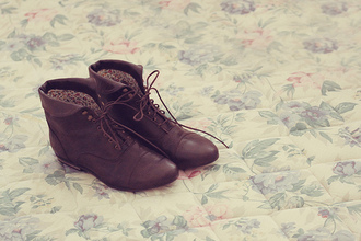 flat low heels boots low boots laces brown shoes shoes tie brown
