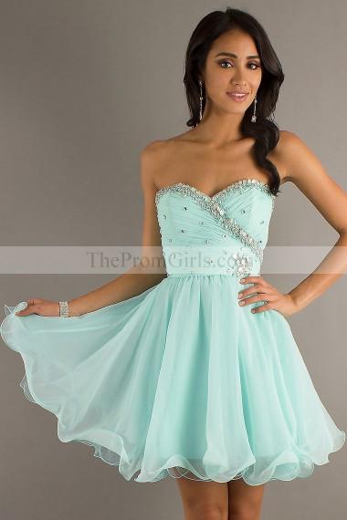 2014  New Arrival A Line Short/Mini Chiffon Homecoming Dresses  - Homecoming Dresses - shop dresses