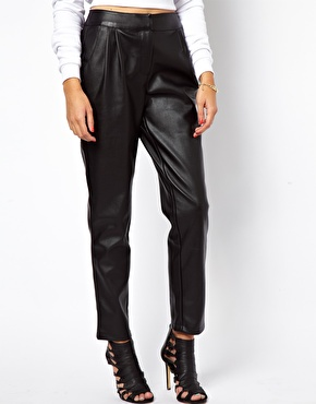 ASOS   ASOS Peg Pant in Faux Leather at ASOS