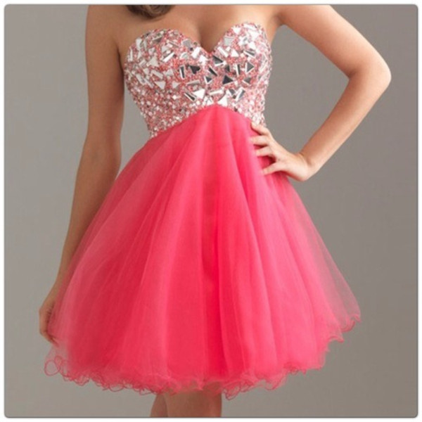 dress pink short glory