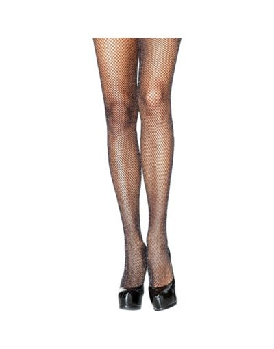 Black Glitter Fishnet Pantyhose for Adults - Party City