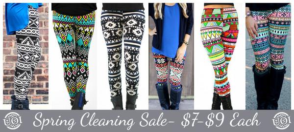 pants leggings printed leggings tribal leggings colorful leggings